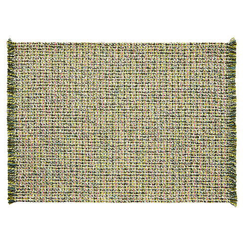 S/4 Twiggy Place Mats, Green/Pink