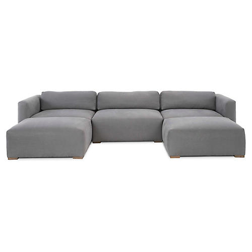 Cooper Sectional, Gray Linen