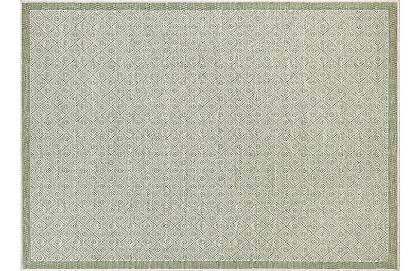 Sarala Outdoor Rug, Sand/Sea Mist