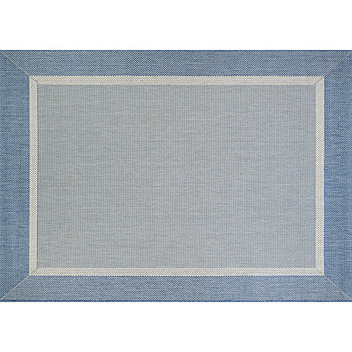 Andromeda Outdoor Rug, Champagne/Blue