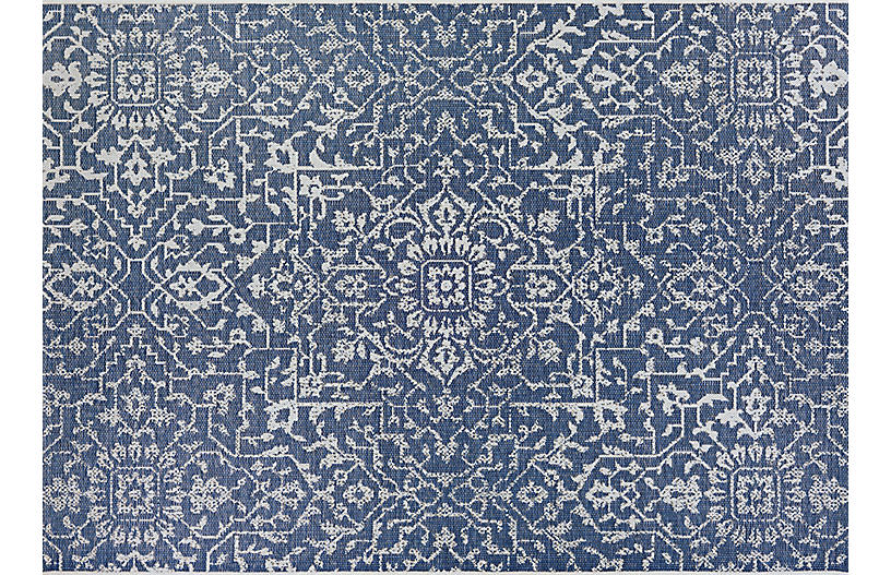 Gerdina Outdoor Rug Navy Ivory Outdoor Rugs Rugs One Kings Lane