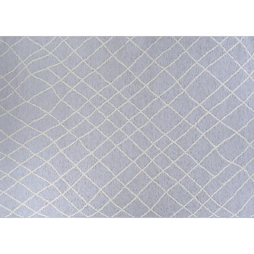 Niek Outdoor Rug, Pale Blue/Ash