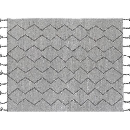 Sedlak Flat-Weave Rug, Medium Gray
