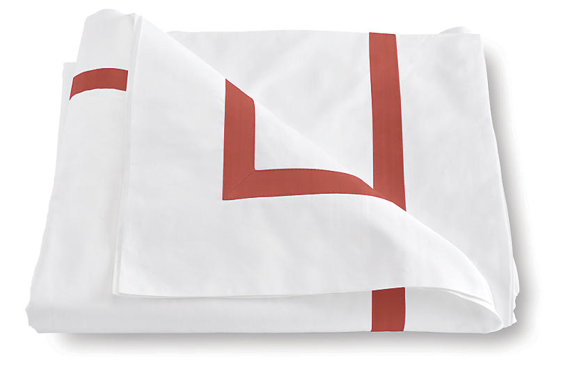 Lowell Duvet Cover, Coral