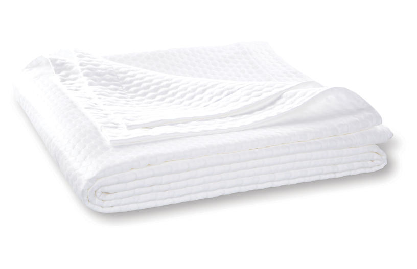 Pearl Coverlet, White