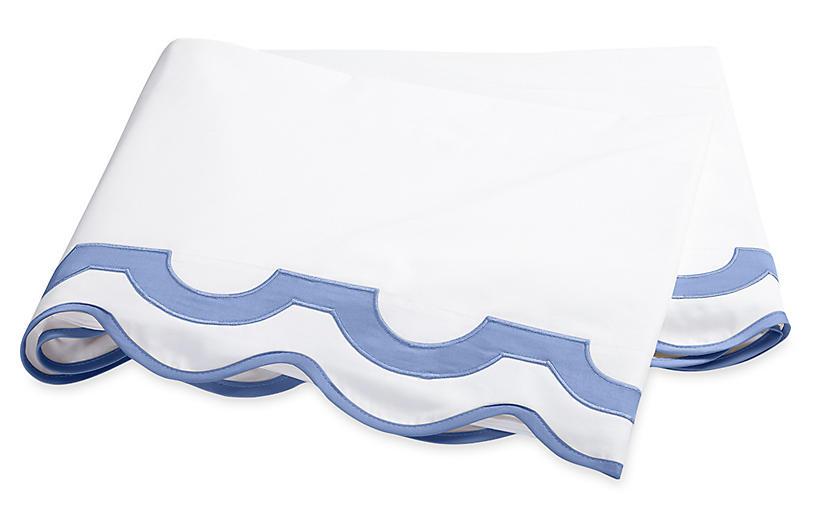 Mirasol Flat Sheet, Azure