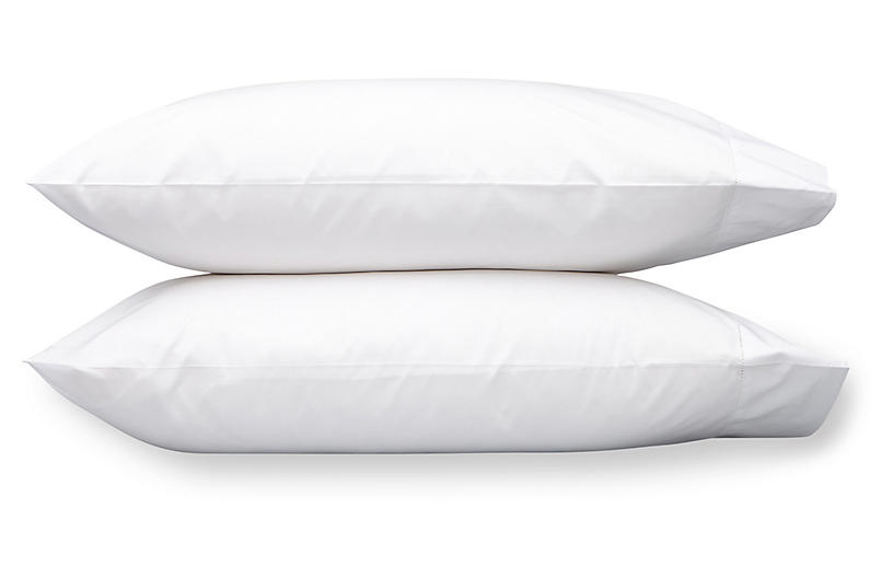 S/2 Luca Hemstitch Pillowcases, White