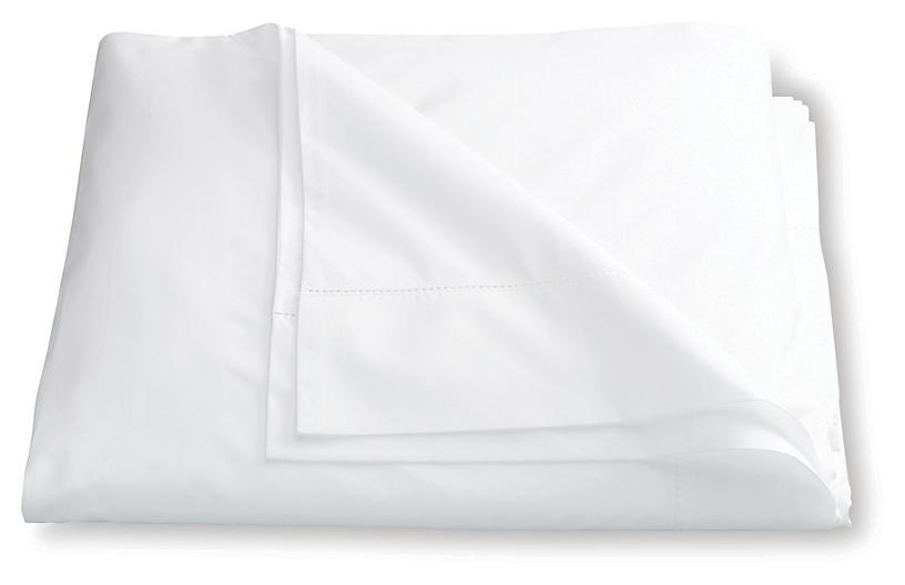 Luca Hemstitch Duvet Cover, White