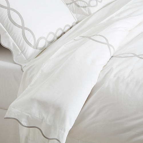 Gianna Duvet Set, Silver