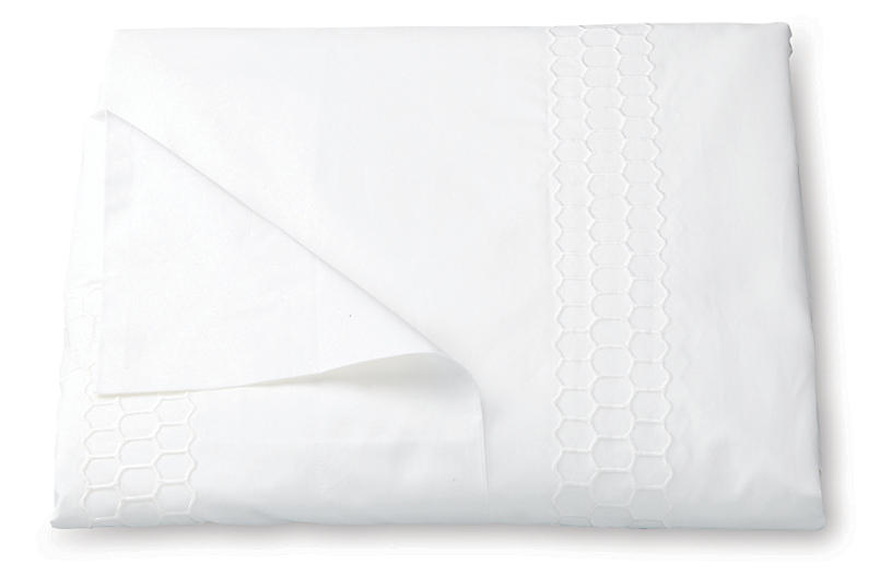 Liana Duvet Cover, White