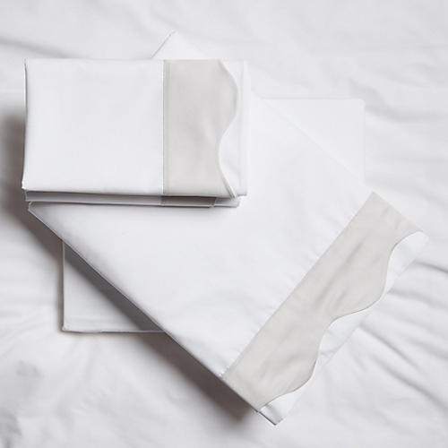 Katarina Sheet Set, Silver