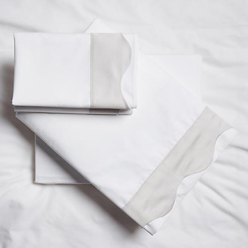 Katarina Sheet Set, Silver