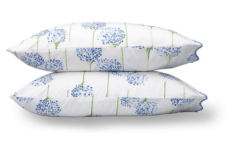 S/2 Lulu DK, Charlotte Pillowcase, Azure