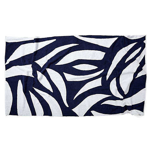 Cutouts Beach Towel, Navy