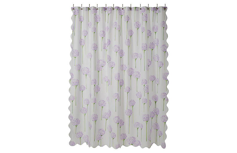 Charlotte Shower Curtain Lavender