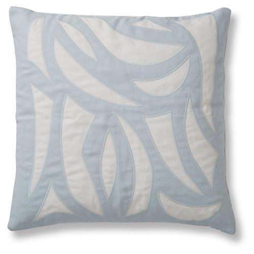 Cutouts 20x20 Pillow, Ice Blue Linen