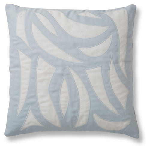 Cutouts 20x20 Pillow, Ice Blue Linen