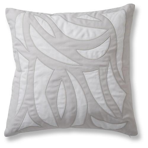 Cutouts 20x20 Pillow, Quartz Linen