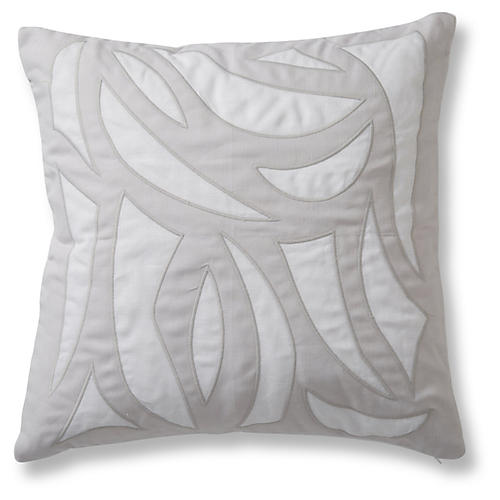 Cutouts 20x20 Pillow, Quartz Linen