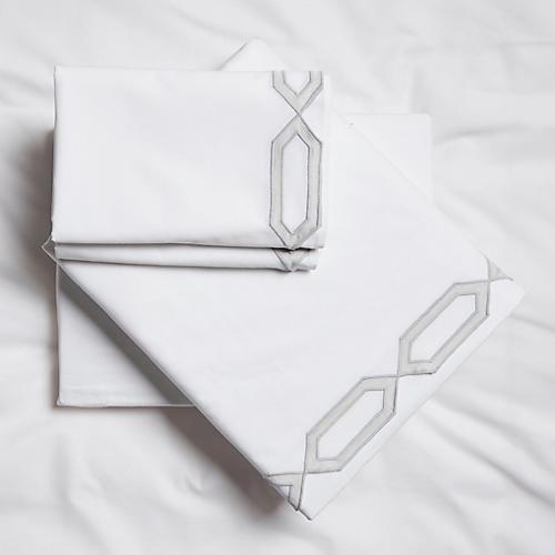 Maillon Sheet Set, Silver