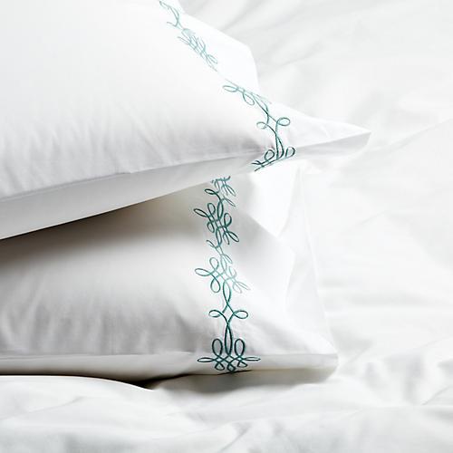 S/2 Bernini Standard Pillowcases, Jade