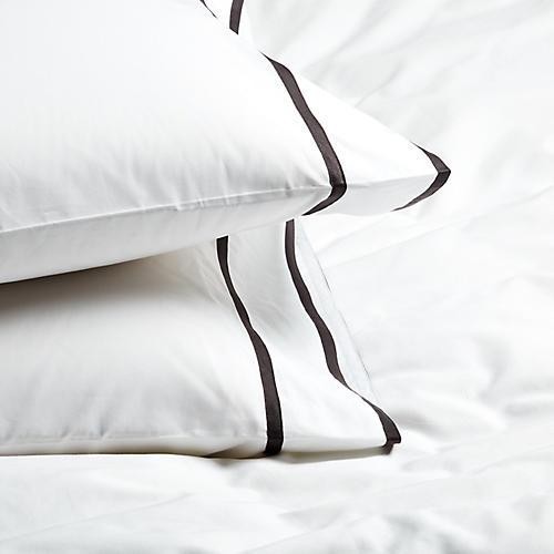 S/2 Collana Standard Pillowcases, Charcoal