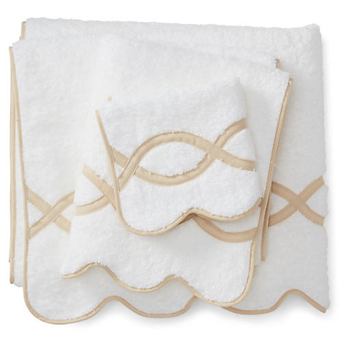 3-Pc Gianna Towel Set, Champagne