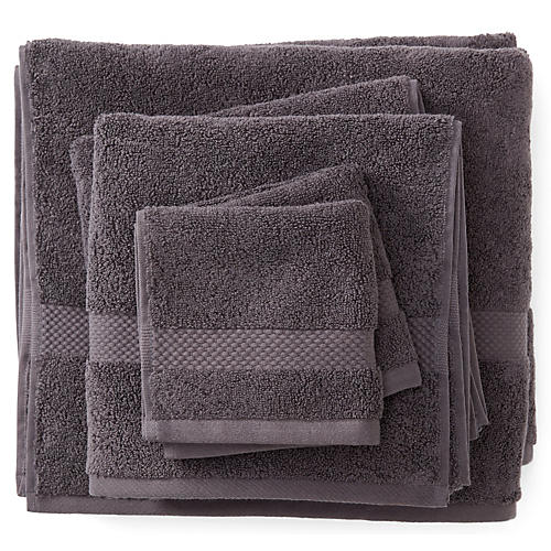 6-Pc Merano Towel Set, Charcoal