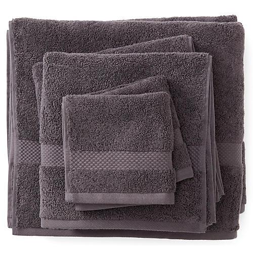 6-Pc Merano Towel Set, Charcoal