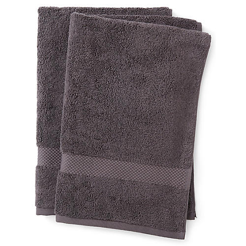Guesthouse Hand Towels, Charcoal