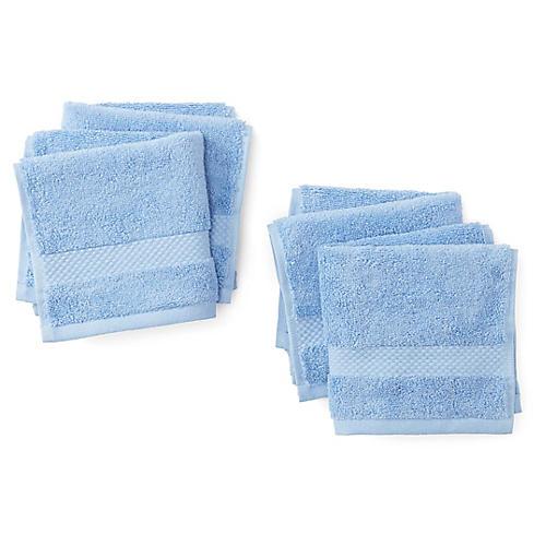 Merano Washcloths, Azure