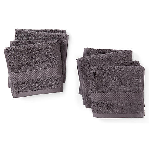 Merano Washcloths, Charcoal