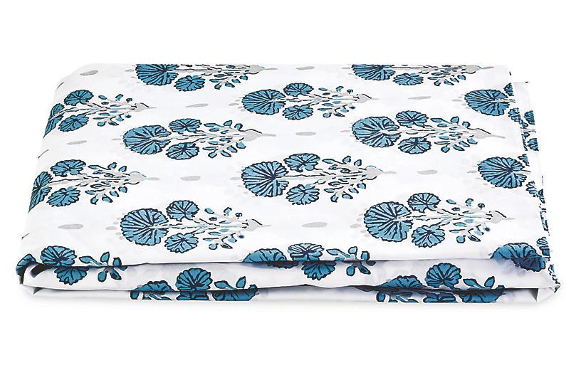 Lulu DK, Joplin Fitted Sheet, Blue