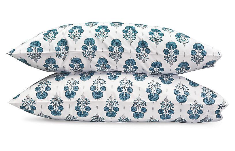 Lulu DK, Joplin Pillowcases, Blue