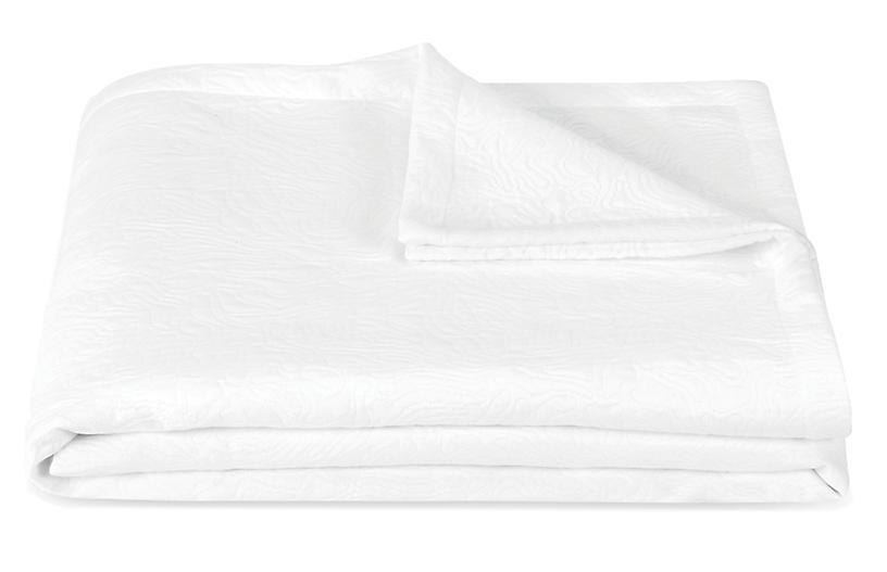 Cora Coverlet, White