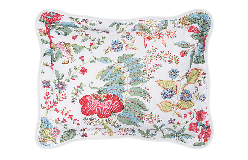 Pomegranate Quilted Sham, Pink Coral