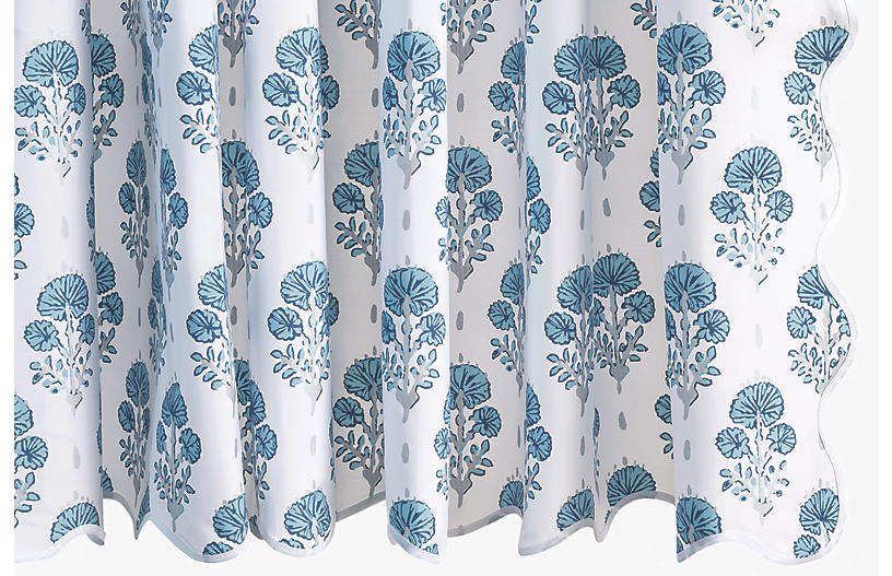 Jopin Shower Curtain, Mineral Blue