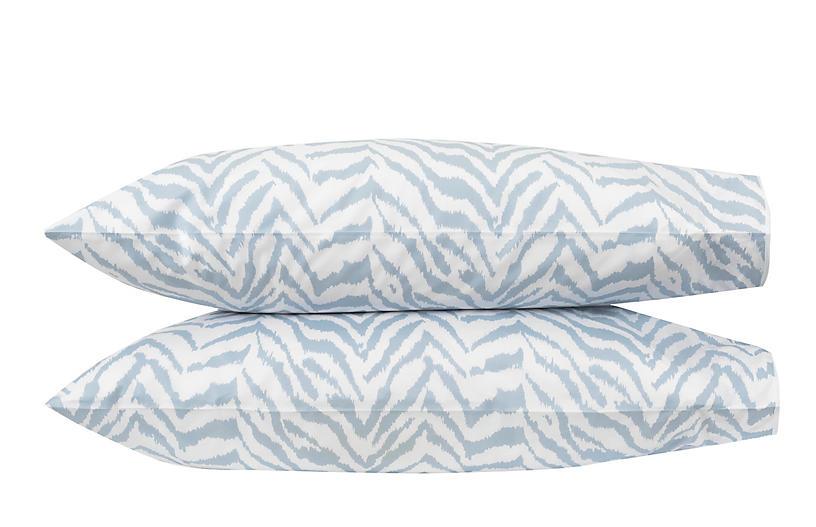 S/2 Quincy Pillowcases, Hazy Blue