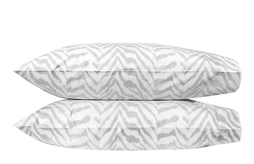 S/2 Quincy Pillowcases, Silver
