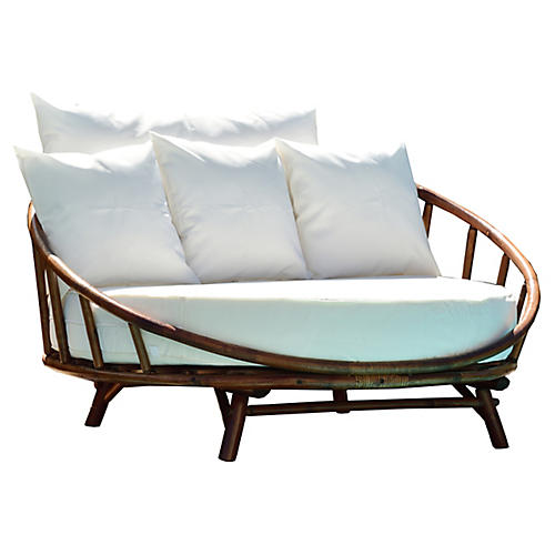 Rattana Daybed, Brown/White