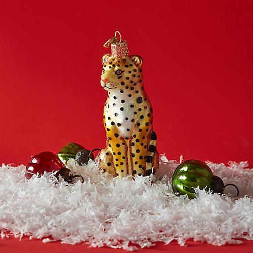 Leopard Ornament, Gold/Multi
