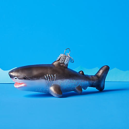 Great White Shark Ornament, Gray