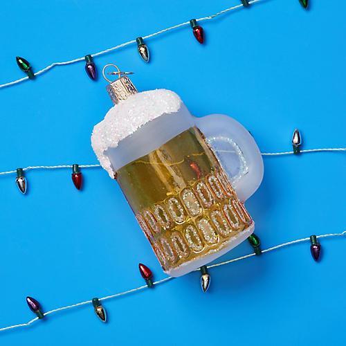 Mug of Beer Ornament, Yellow