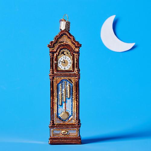 Grandfather Clock Ornament, Bronze/Multi