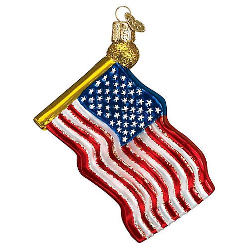 Star-Spangled Banner Ornament, Blue/Multi