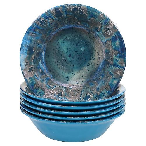 S/6 Morrison Melamine Bowls, Teal