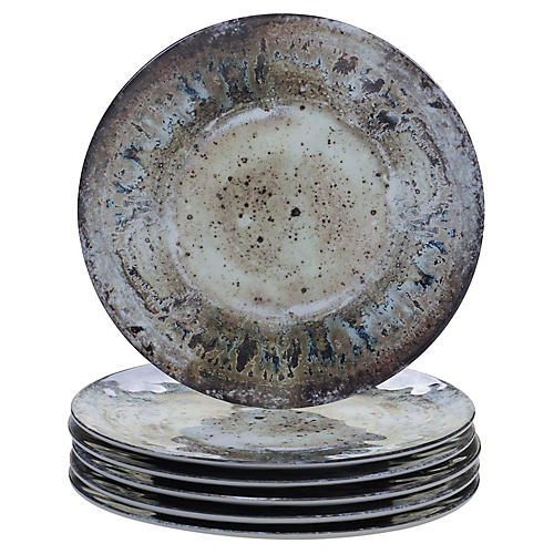 S/6 Morrison Melamine Dinner Plates, Cream
