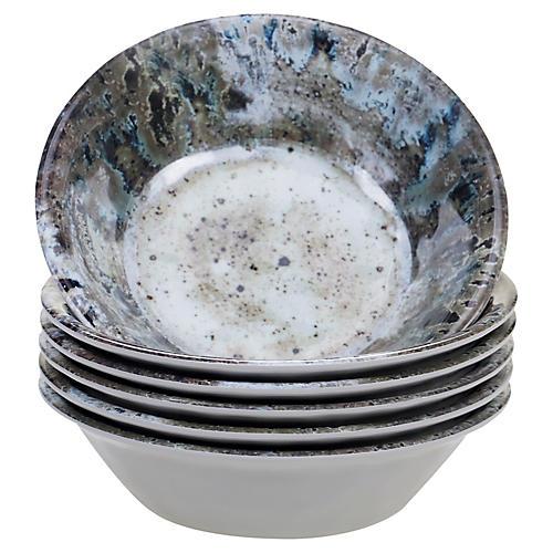 S/6 Morrison Melamine Bowls, Cream