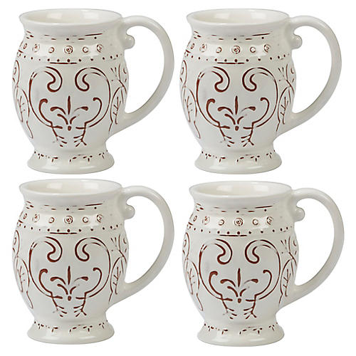 S/4 Ravello Mugs, White