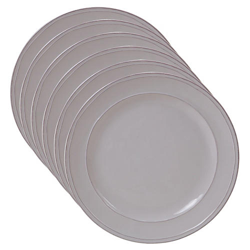 S/6 Misha Dinner Plates, Cream